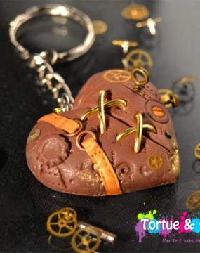 porte clés coeur steampunk