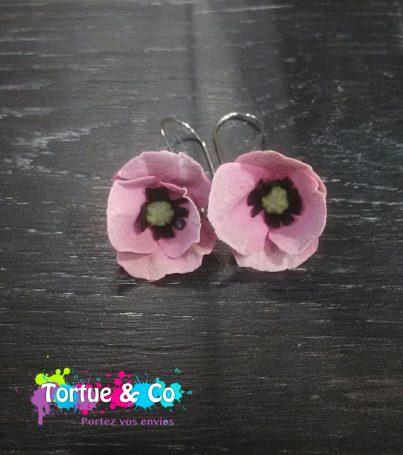 Boucles d'oreille «Grande Fleur»