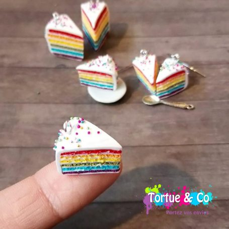 Boucles « Rainbow cake »